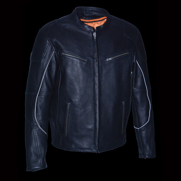 Milwaukee Leather MLM1502 Men's 'Cool-Tec' Black Vented Leather