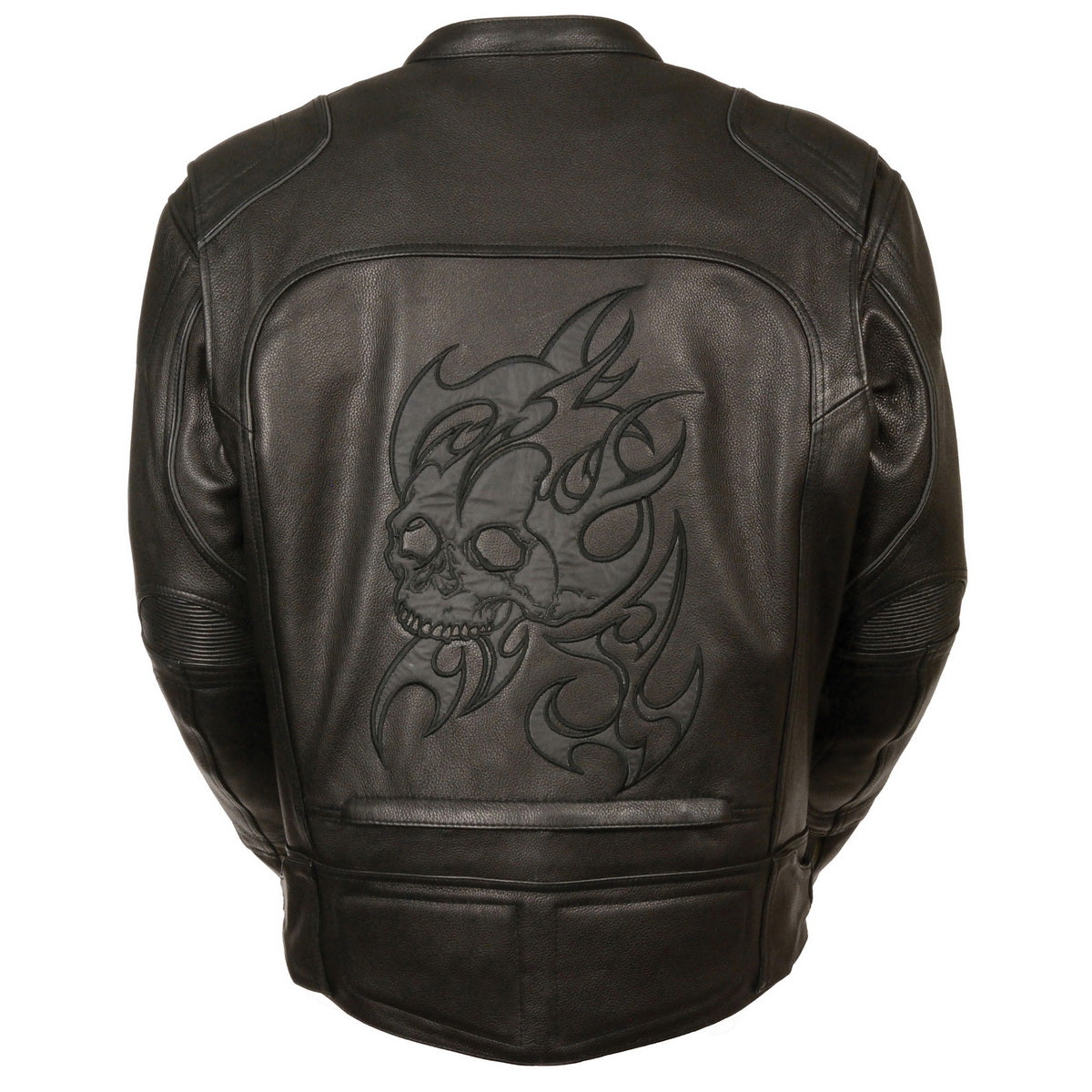 Milwaukee Leather MLM1510 Mens Black Leather Scooter Jacket with