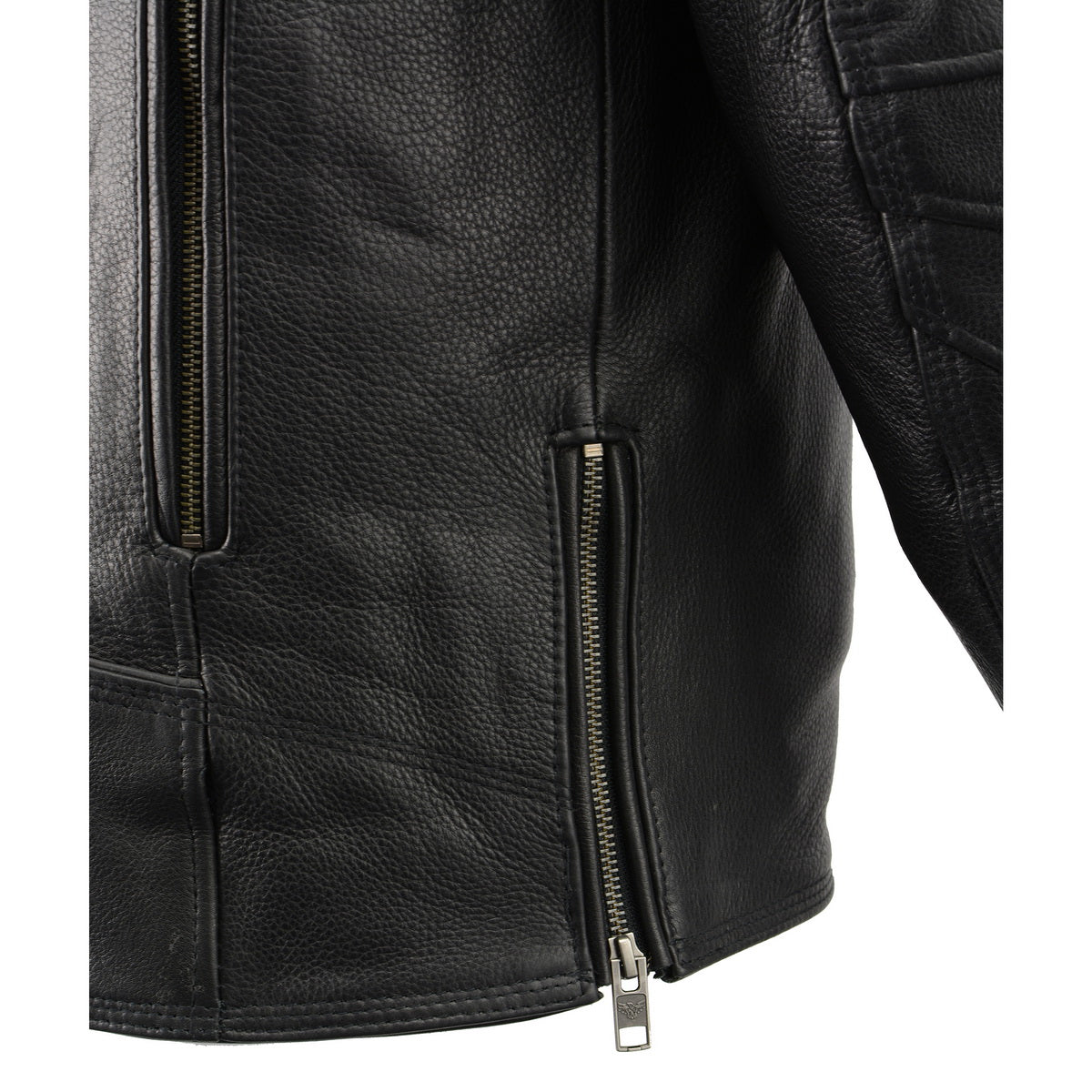 Milwaukee Leather MLM1515 Men's 'Triple Stitch' Beltless Black Leather