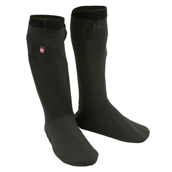 Milwaukee Leather MP7905 Men's Black 'Heated' Sock Liners with Top and Bottom Heating Elements (Battery Pack Included)
