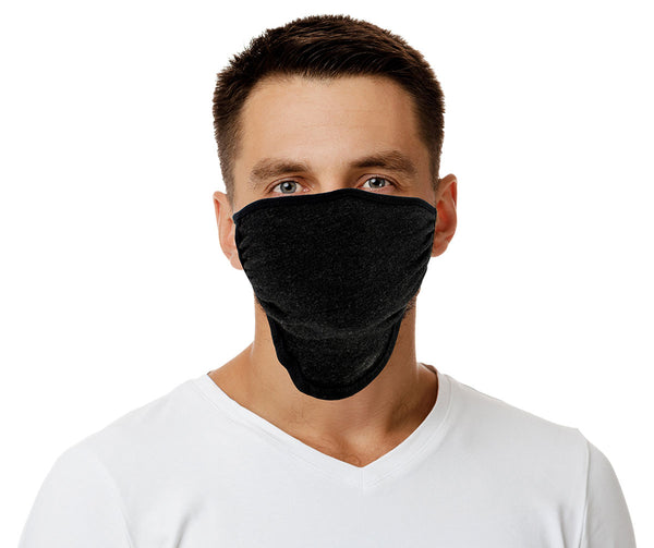 Xelement XS8003 (Multi-Pack) 'Black and Grey' USA Made 100 % Cotton Protective Face Mask with Optional Filter Pocket