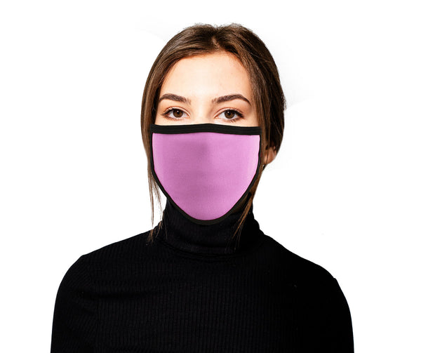 Milwaukee (Multi-Pack) MP7924FM Ladies 'Black and PInk' 100 % Cotton Protective Face Mask with Optional Filter Pocket