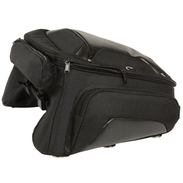 Milwaukee Performance MP8105 Black Textile Back Rack Sissy Bar Bag with 4 Outer Pockets
