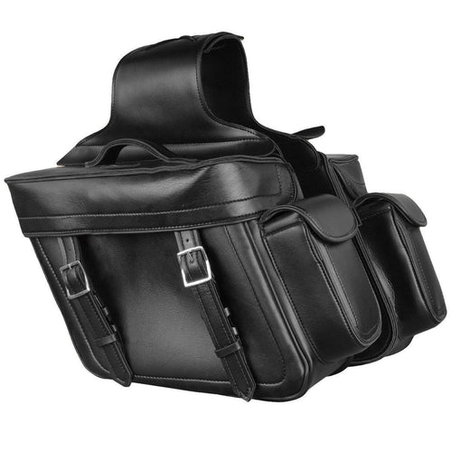 Milwaukee Performance MP8315 Black Zip Off PVC Throw Over Saddlebags with Bonus Side Pockets