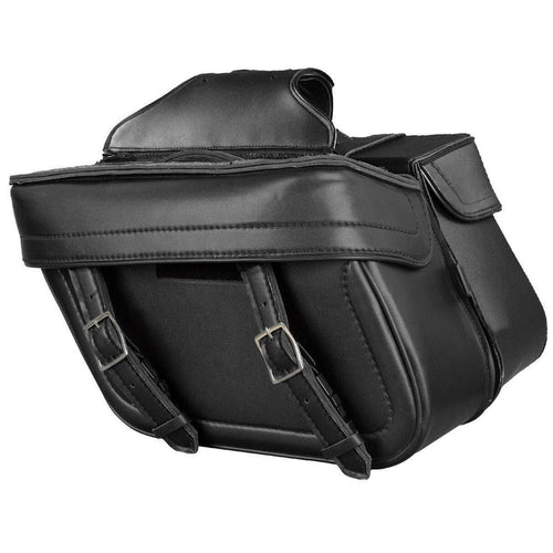 Milwaukee Performance MP8325 Black Zip Off PVC Throw Over Saddlebags with Double Strap Front