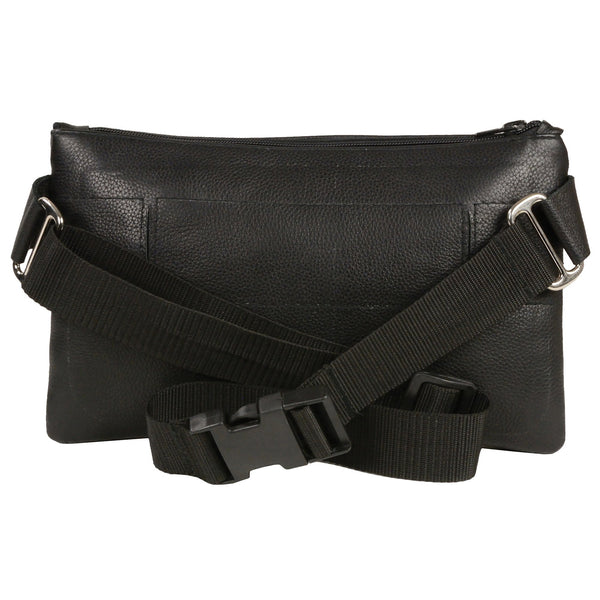 Milwaukee Leather MP8825 Women's Black Leather Belt Bag with Gun