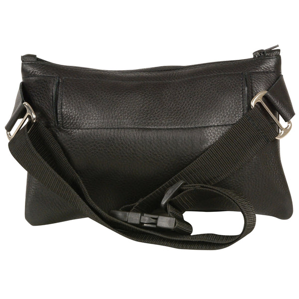 Milwaukee Leather MP8825 Women's Black Leather Belt Bag with Gun Holster