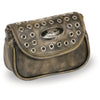 Milwaukee Leather MP8830 Ladies Distress Brown Leather Chain Strap Shoulder Bag