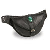 Milwaukee Leather MP8835 Women's Black 'Braided' Hip Belt Bag with Gun Holster