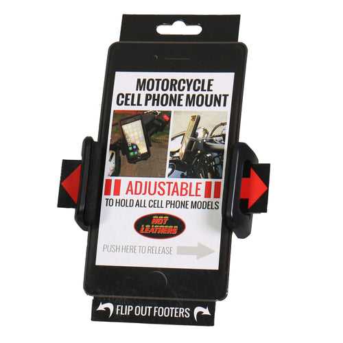 Hot Leathers MPA1805 Black Motorcycle Cell Phone Holder