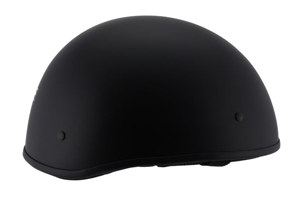 Milwaukee Performance Helmets MPH9710DOT 'Bare Bones' Matte Black Half Helmet