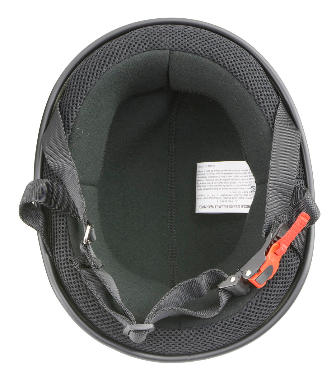 Milwaukee Performance Helmets MPH9710DOT 'Bare Bones' Matte Black Half