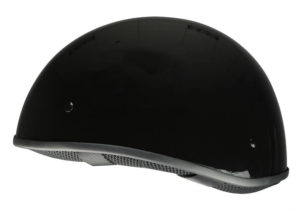 Milwaukee Performance Helmets MPH9711DOT 'Bare Bones' Glossy Black Half Helmet