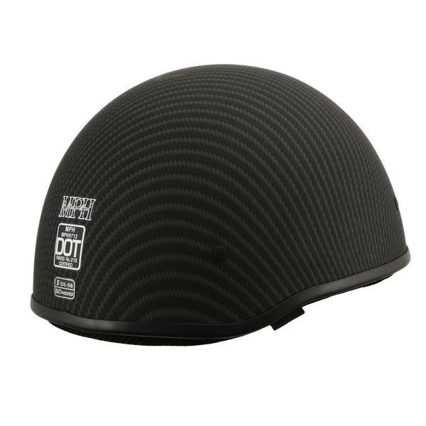 Milwaukee Performance Helmets MPH9712DOT Matte Black DOT Half Helmet
