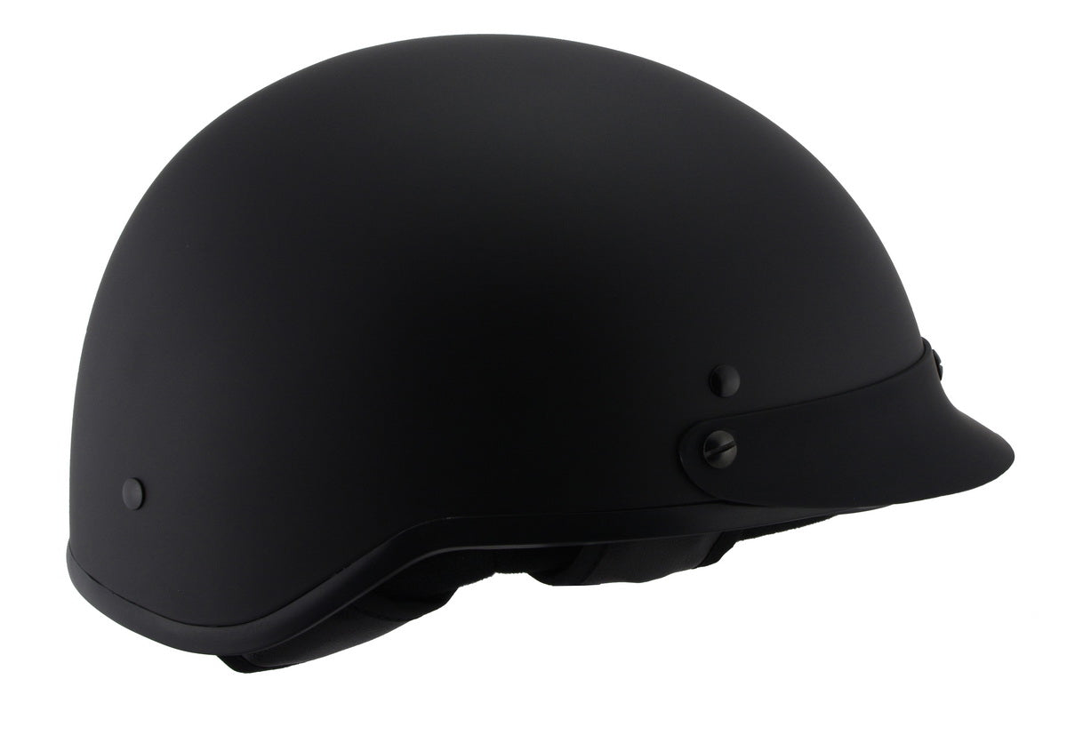 Milwaukee Performance Helmets MPH9720DOT 'Momentum' Matte Black Half