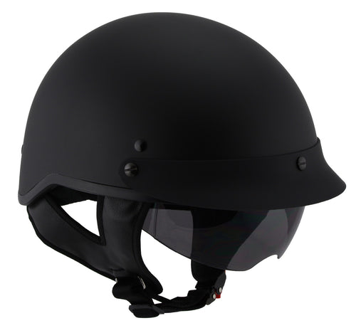 Milwaukee Performance Helmets MPH9720DOT 'Momentum' Matte Black Half Helmet