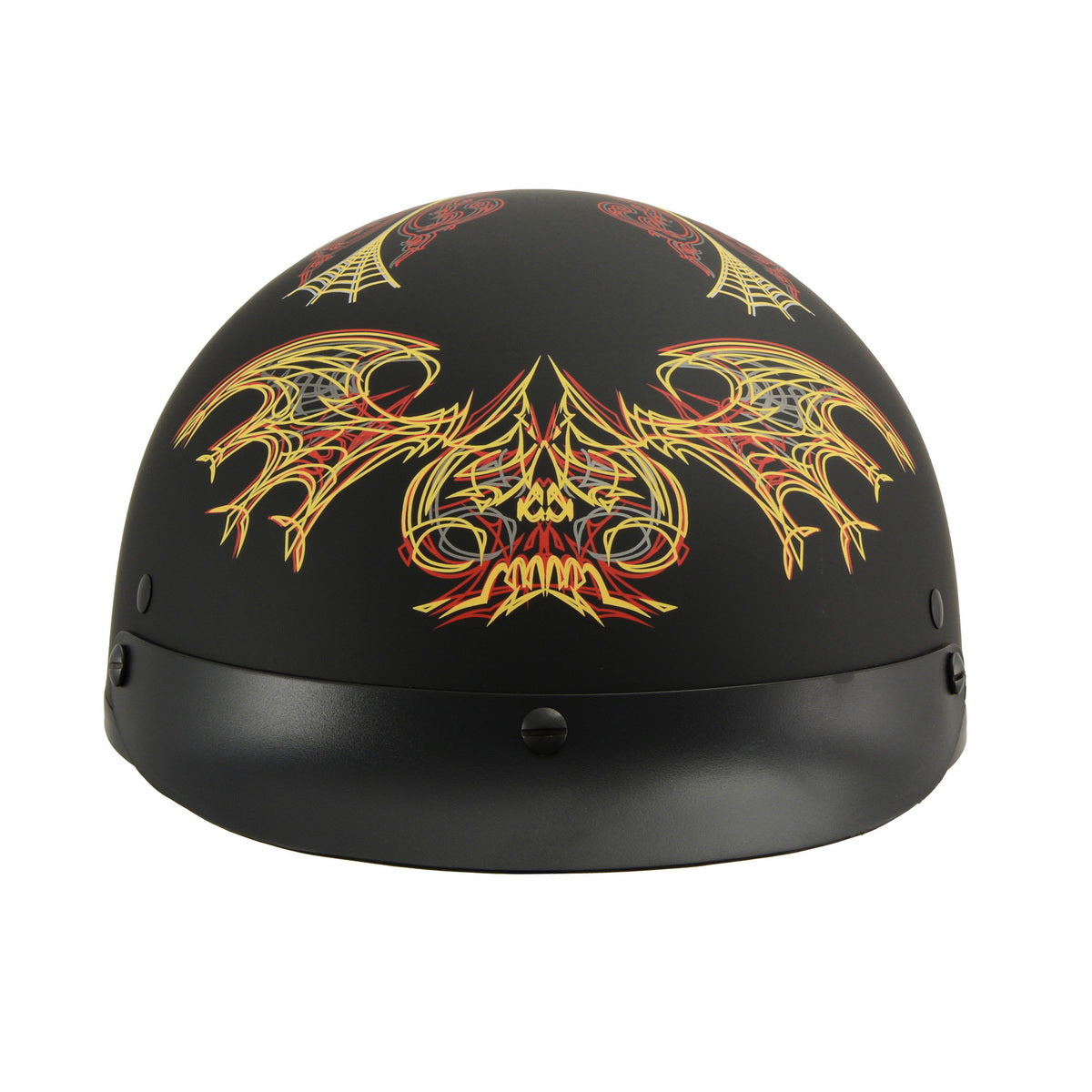 Milwaukee Performance Helmets MPH9724DOT 'Skull Graphic' Matter Black