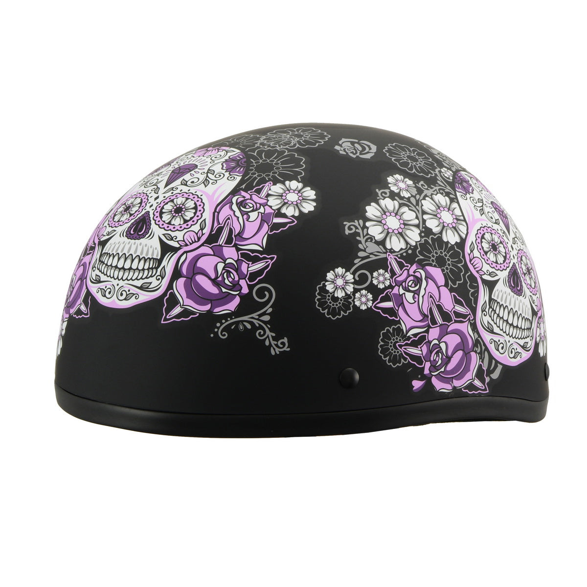 Milwaukee Performance Helmets MPH9874N Novelty 'Flowered Sugar Skull'