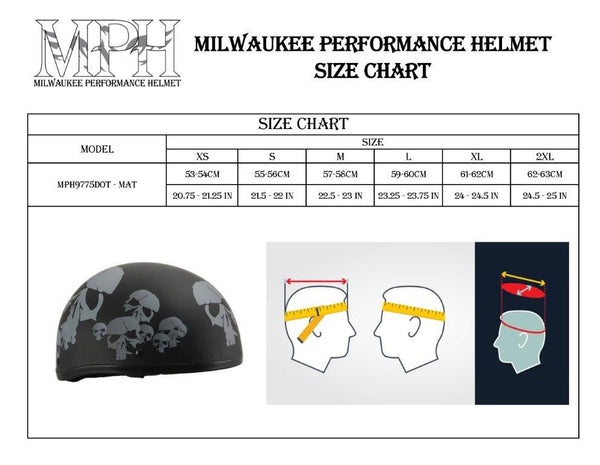 Milwaukee Performance Helmet MPH9775DOT Americas Smallest Matte Black
