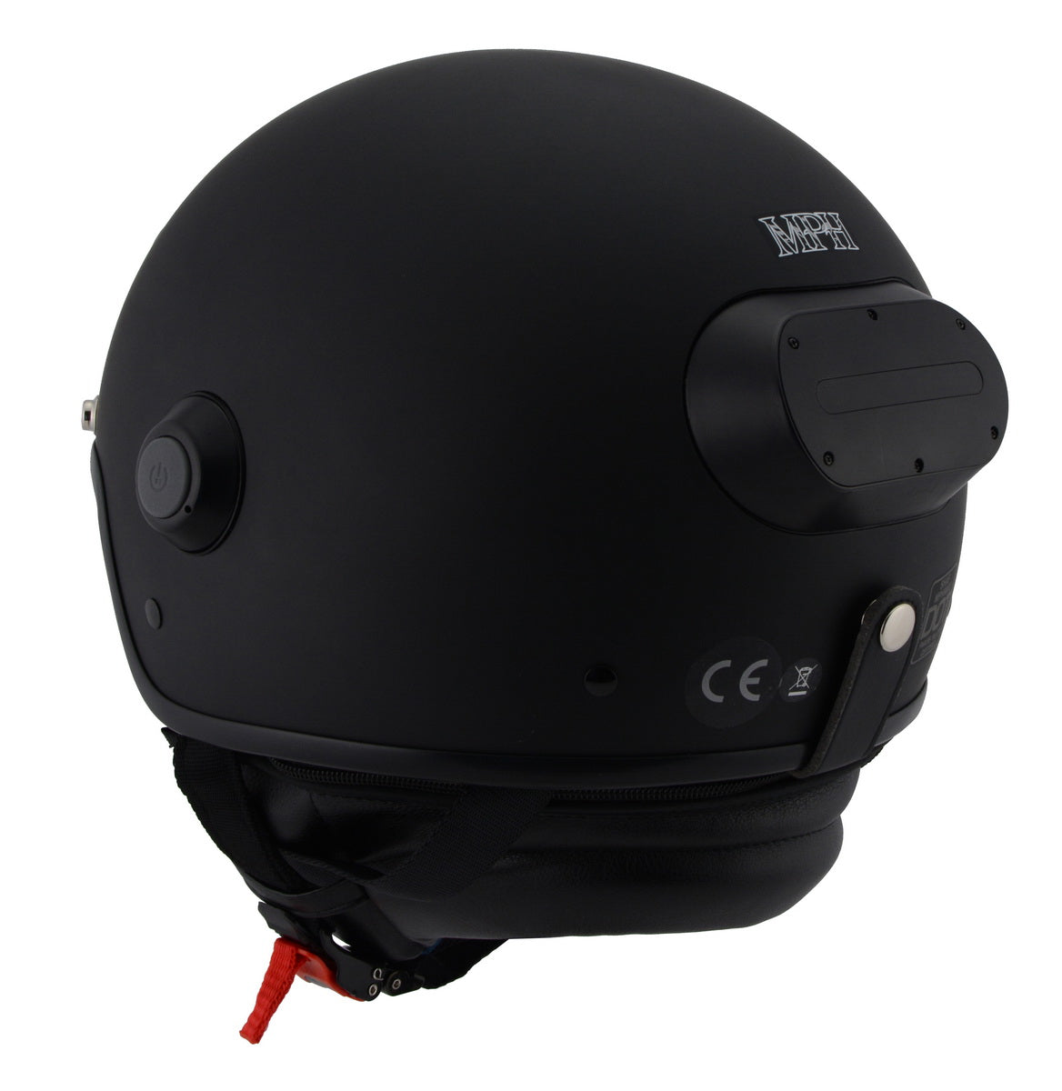 Milwaukee Performance Helmets MPH9802DOT 'Vision' Matte Black 3/4 Open