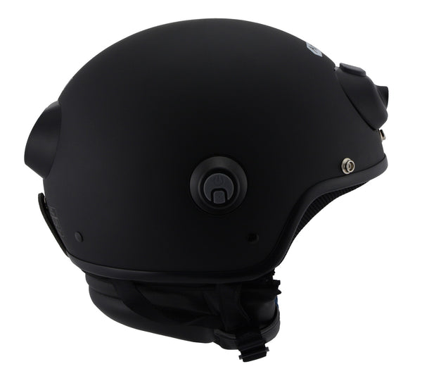 Milwaukee Performance Helmets MPH9802DOT 'Vision' Matte Black 3/4 Open Face Helmet with HD Camera and Bluetooth System