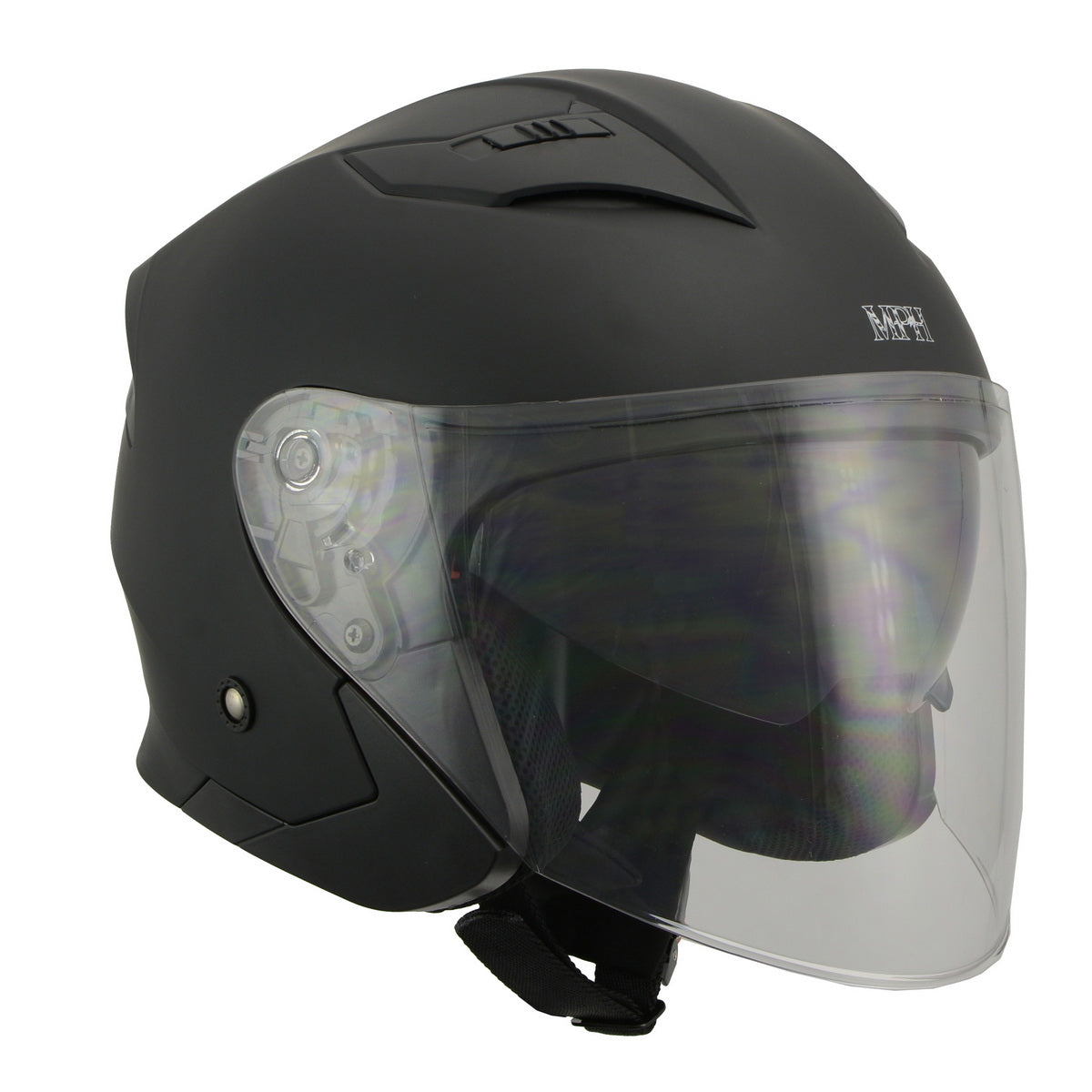 Milwaukee Performance Helmet MPH9805DOT Open Face 3/4 Matte Black Half