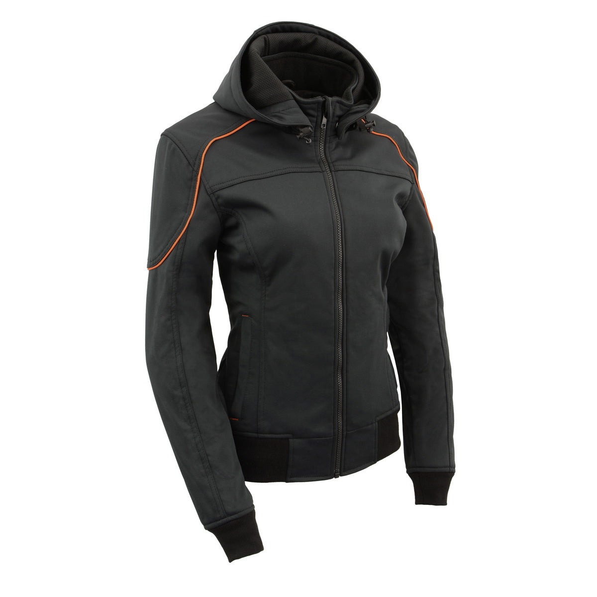 Milwaukee Leather MPL2764 Women's Soft Shell Armored Racing Style