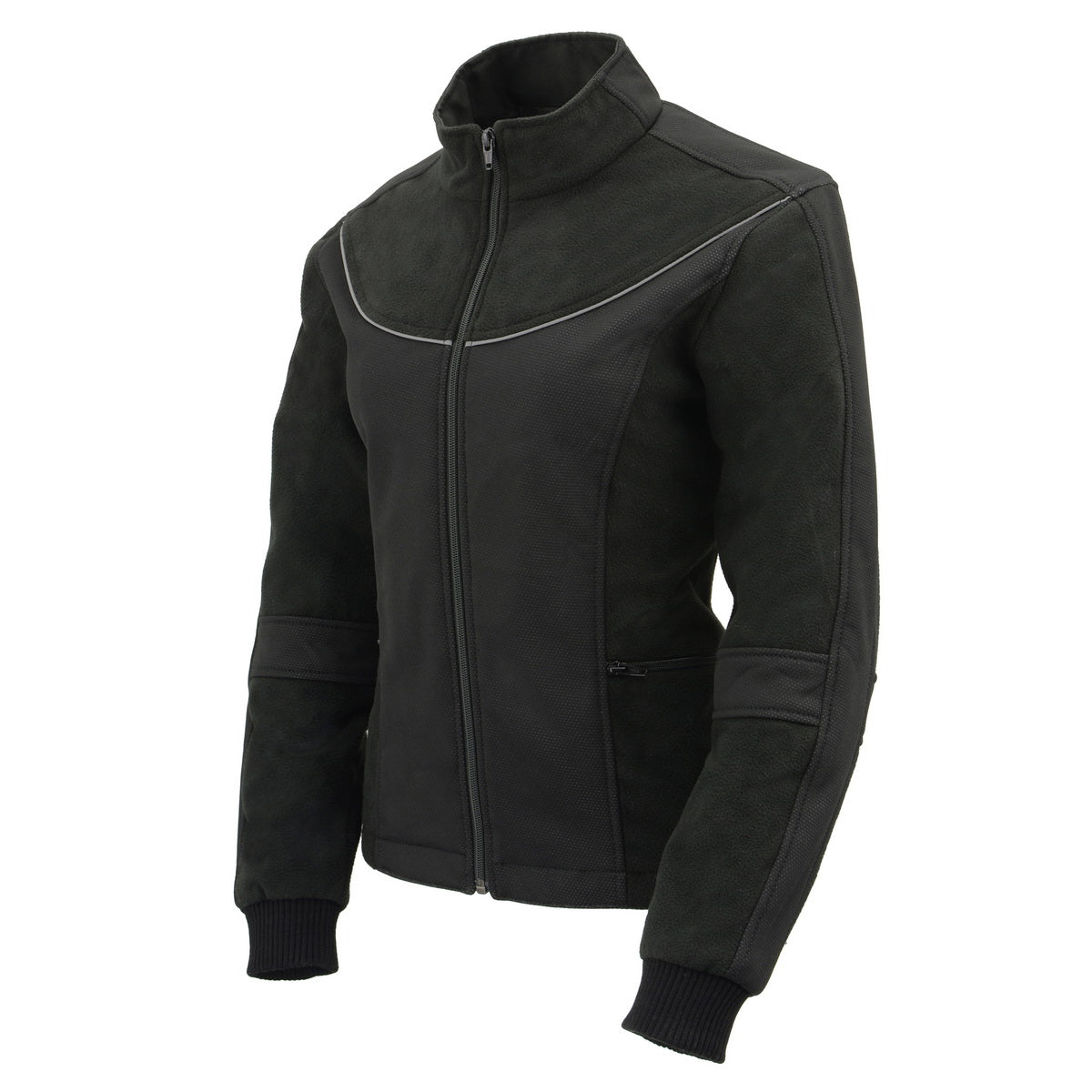 Milwaukee Leather MPL2780 Women's Black Textile and Fleece Combo