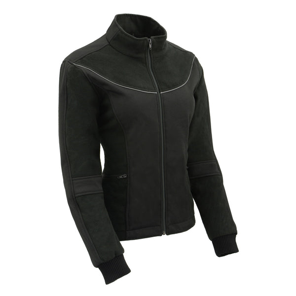 Milwaukee Leather MPL2780 Women's Black Textile and Fleece Combo Jacket