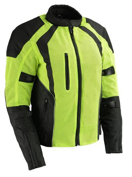 Milwaukee Leather MPL2793 Ladies Armored High-Viz Mesh Racer Jacket with Gun Pockets