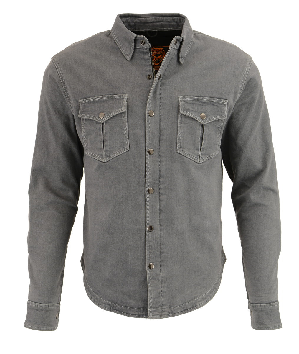 Milwaukee Performance MPM1621 Men's Grey Armored Denim Shirt with