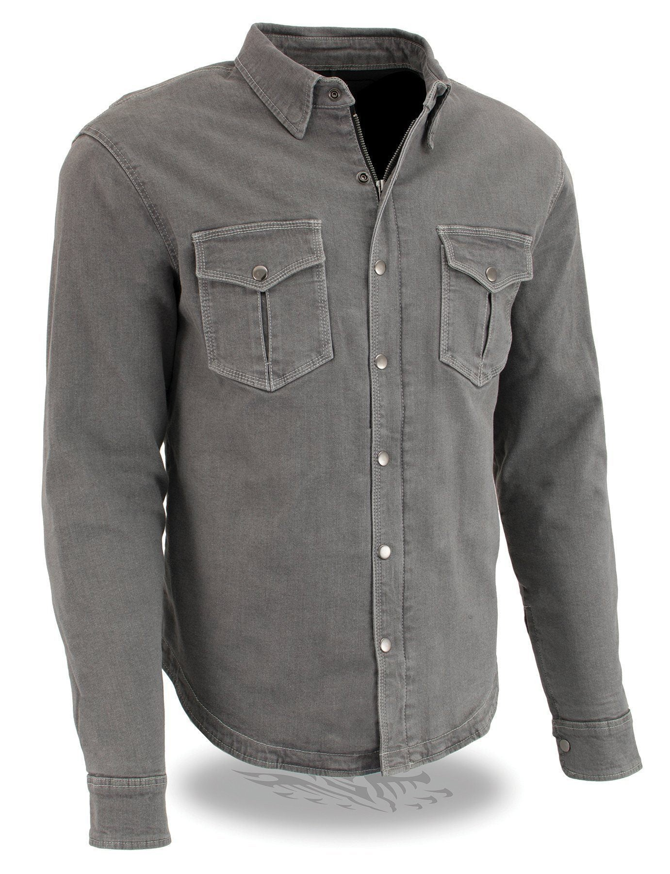Milwaukee Performance  MPM1621 Men's Armored Denim Biker Shirt with Aramid® by DuPont™ Fibers