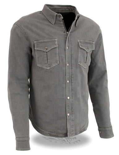 Milwaukee Performance MPM1621 Men's Grey Armored Denim Shirt with Aramid® by DuPont™ Fibers