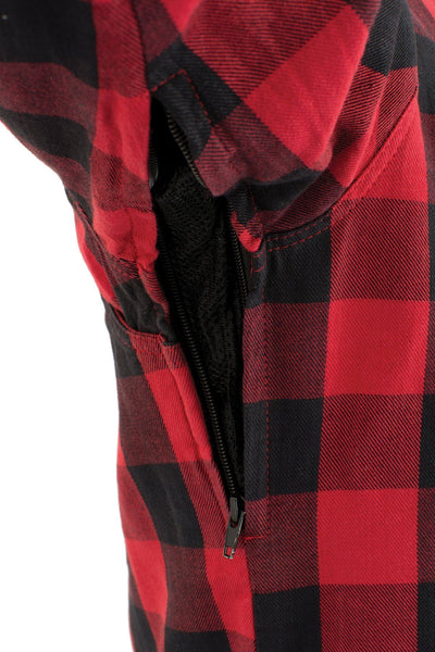 Milwaukee Performance MPM1631 Men's Armored Checkered Flannel Biker