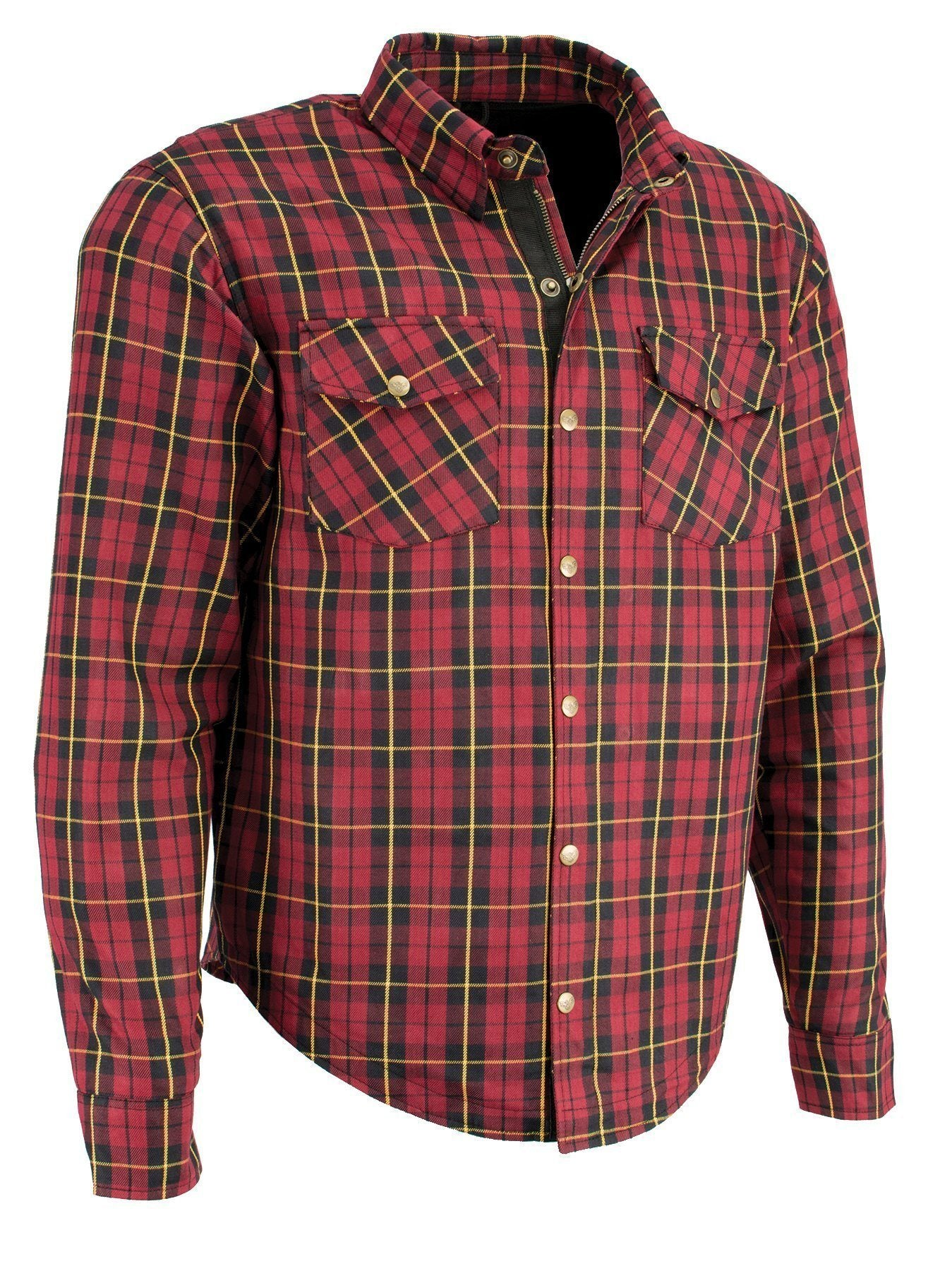 Milwaukee Performance MPM1632 Men's Armored Checkered Flannel Biker