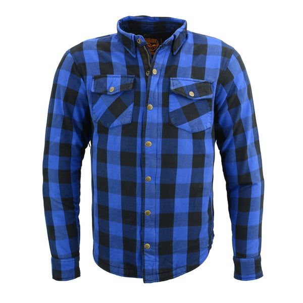 Milwaukee Performance MPM1634 Men's Armored Checkered Flannel Biker Shirt with Aramid® by DuPont™ Fibers