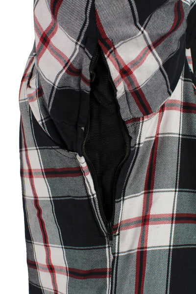 Milwaukee Performance MPM1635 Men's Armored Biker Flannel Biker Shirt