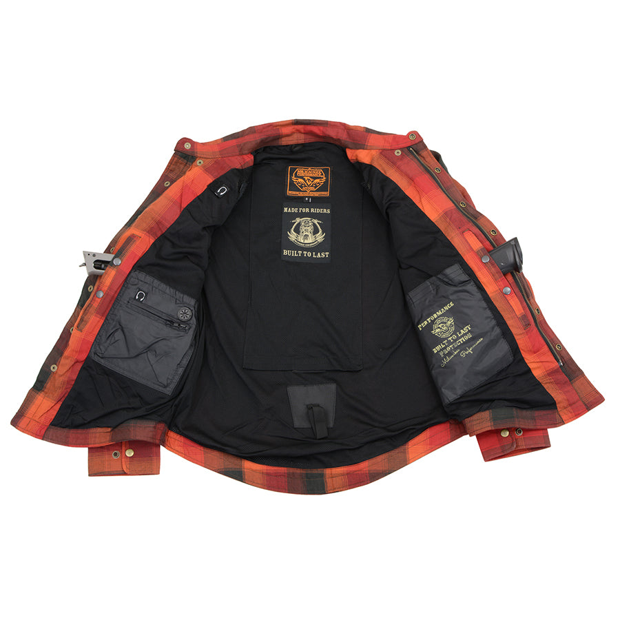 Milwaukee Performance MPM1641 Men's Orange, Red and Black Armored Long