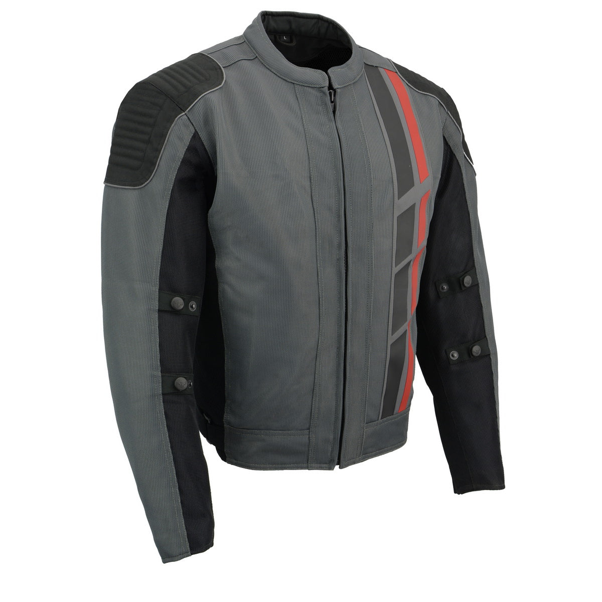 Milwaukee Leather MPM1752 Men's Black and Grey Mesh Armored Racing