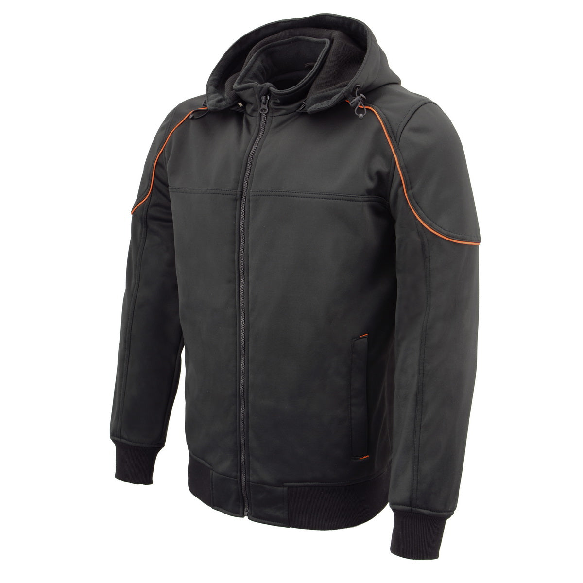 Milwaukee Leather Performance MPM1764 Mens Black Soft Shell Armored