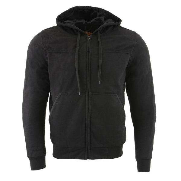 Milwaukee Performance MPM1788 Men's Black CE Approved Removable Armored Hoodie with Aramid By Dupont
