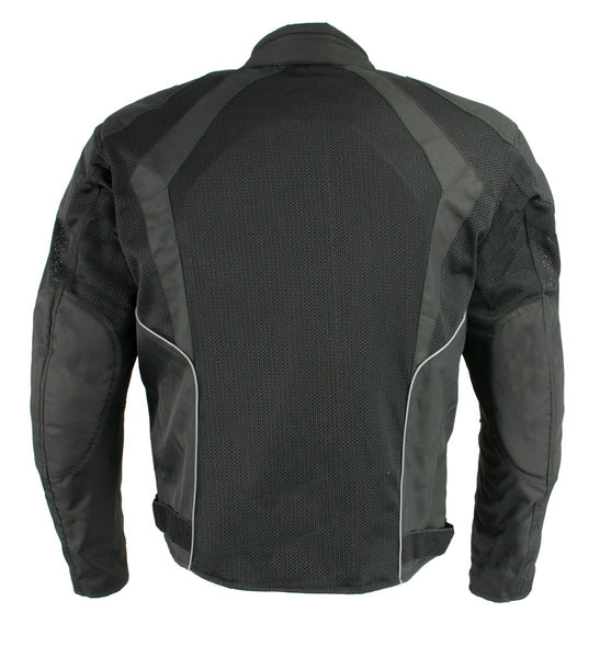 Milwaukee Leather MPM1793 Men's Black Mesh Racer Jacket