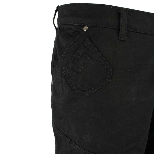 Milwaukee Leather MPM5590 Men's Black Armored Black Cargo Jeans Reinforced with Aramid by DuPont Fibers