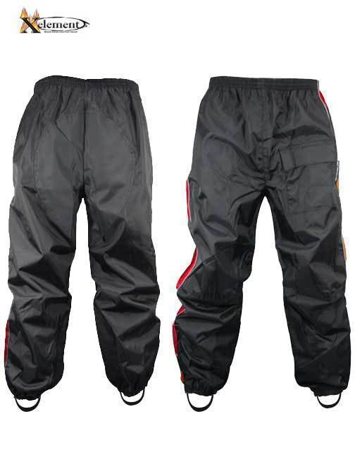 Xelement RN4766 Men's Black and Red 2-Piece Motorcycle Rain Suit with