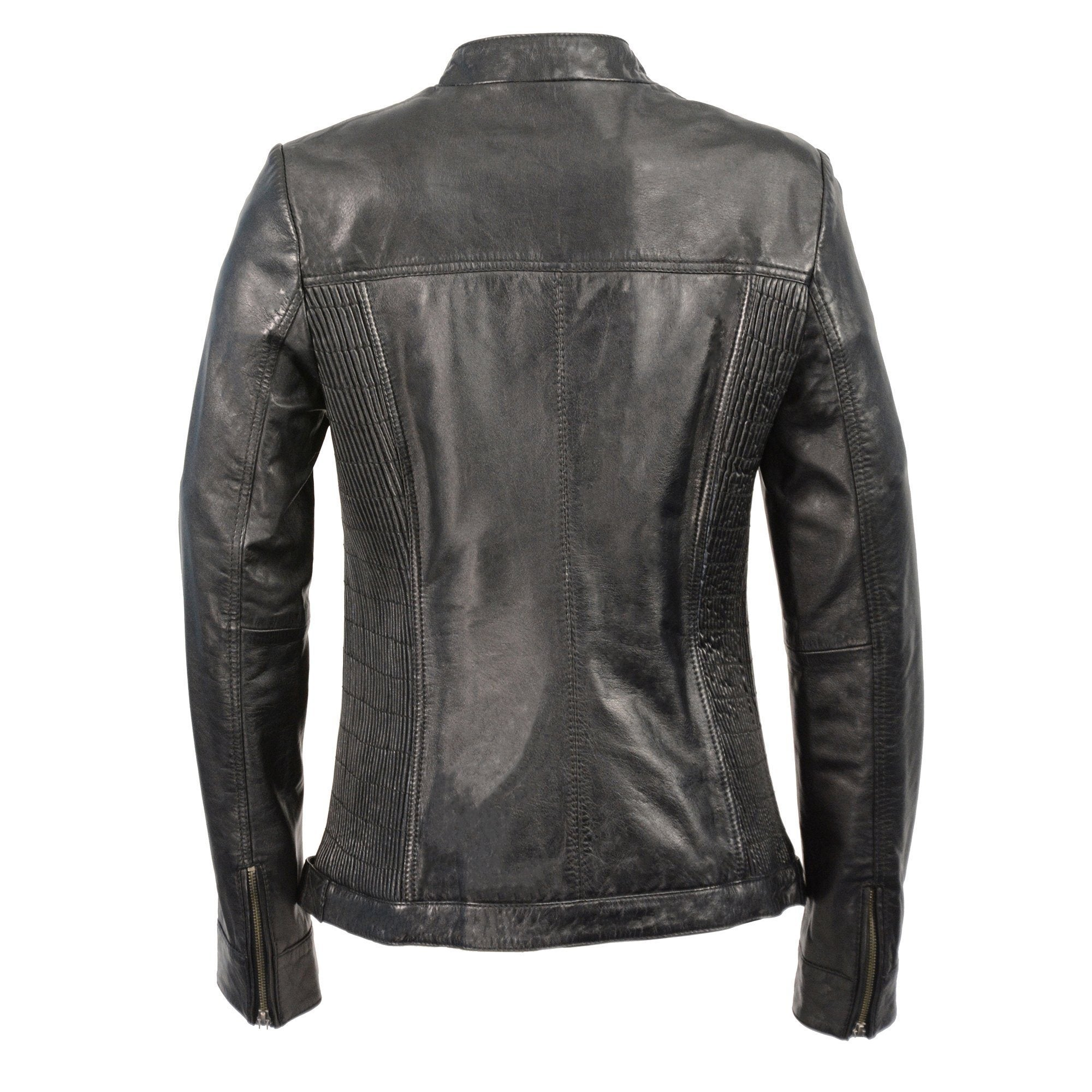 Milwaukee Leather SFL2855 Black Women's Zip Front Leather Jacket with