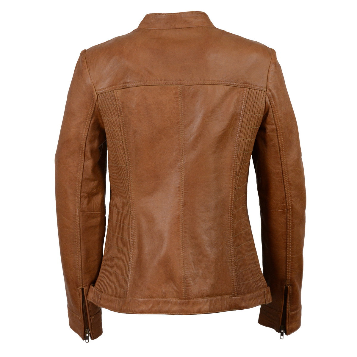 Milwaukee Leather SFL2855 Saddle Women's Zip Front Leather Jacket with