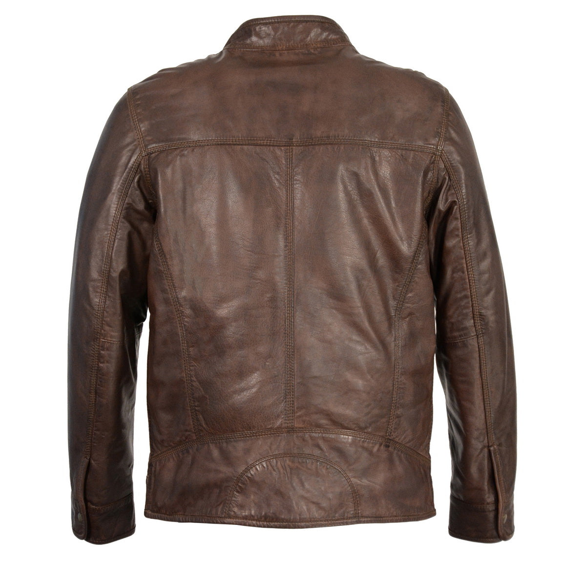 Milwaukee Leather SFM1865 Mens Broken Brown Leather Jacket with Front