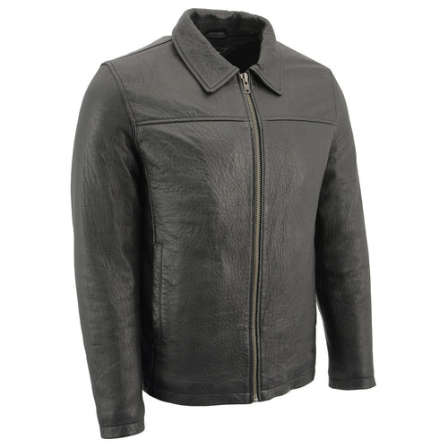 Milwaukee Leather SFM1875 Men's New Zealand Lambskin Leather with Shirt Style Collar