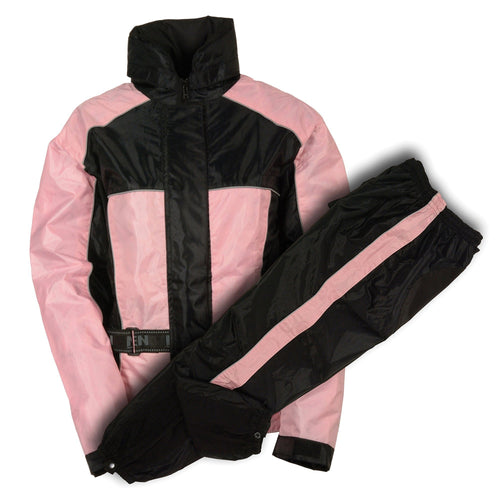 NexGen SH222201 Ladies Black and Pink Oxford Water Proof Rain Suit