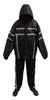 NexGen SH2331 Men's Black Water Resistant Rain Suit with Reflective Tape